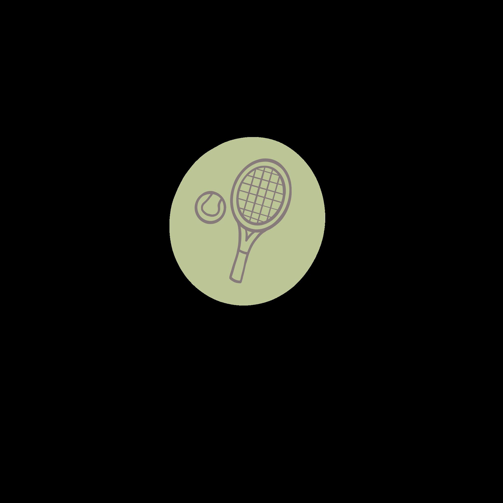 an illustration of a tennis racket