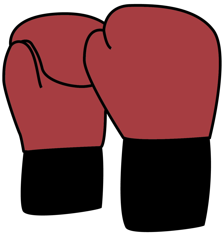 Illustration of red boxing gloves.