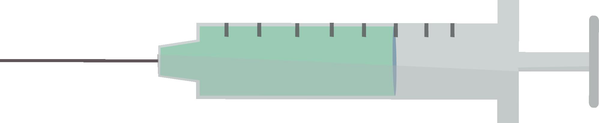 A vaccine syringe